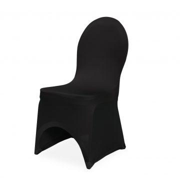Stuhlhusse Stretch-Premium in schwarz
